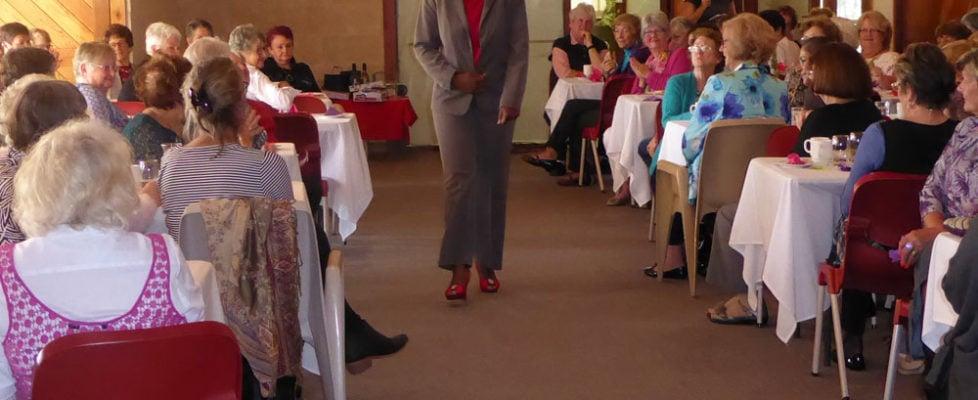 Isabel Mangezi models for the Fashion Show